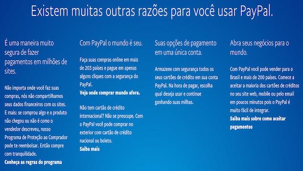 Vantagens de usar o Paypal
